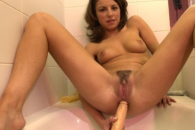 Pics photos of horny Marinella shot by Loulou, anal dildo and pissing