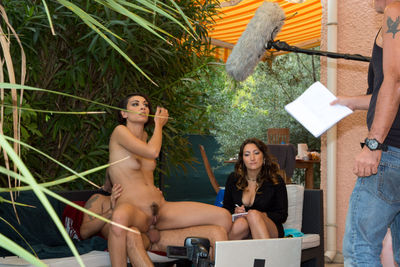 Backstage photos on the shooting of the film