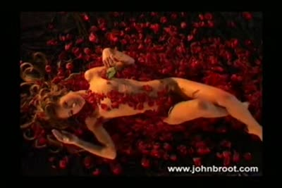 Erotic video of French teen porn star Ally Mac Tyana in the roses petals