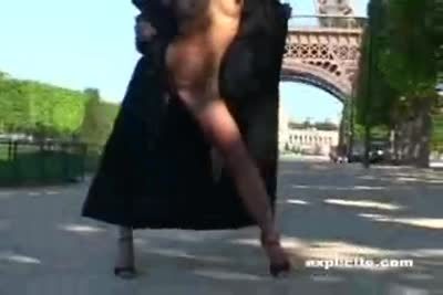 Erotic video of French teen porn star Ally Mac Tyana naked in Paris