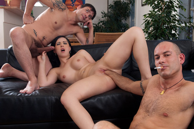 Porn star Angell Summers gone nuts, anal with two guys, anal fist...1/2
