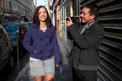 Cute French teen seduced in the streets of Paris and fucked. 1/2