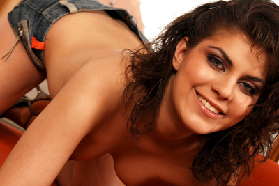 Casting video of a young Czech brunette