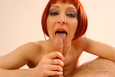 Pics of French redhead debutante first casting, spreading and blowjob