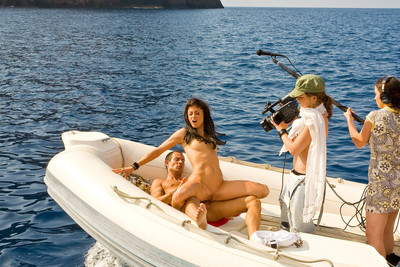 Pics of French porn stars fucking on boats in Corsica