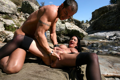 Pics of Ana Martin fucked in the ass by the river by Mike Angelo