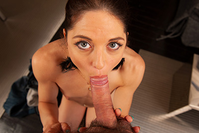 French pornstar rachel Adjani gives a long POV blowjob in video