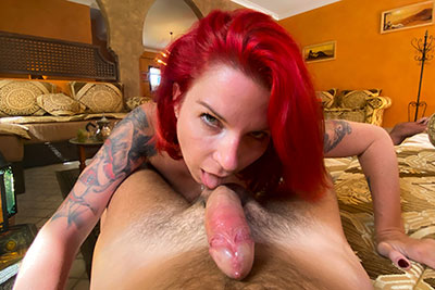 Potos of French redhead MILF Julie Valmont horny in Cap d'Agde part 1