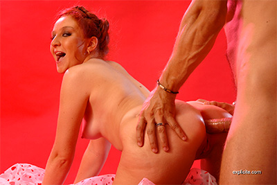 Video of crazy young Lola fucked in the ass by Sebastian Barrio in studio